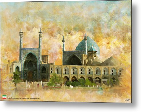 Iran Art Metal Print featuring the painting Meidan Emam Esfahan by Catf