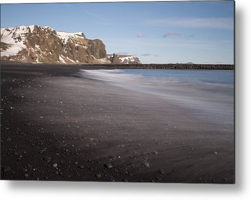 Vik Metal Print featuring the photograph Memories In The Black Sand by Evelina Kremsdorf
