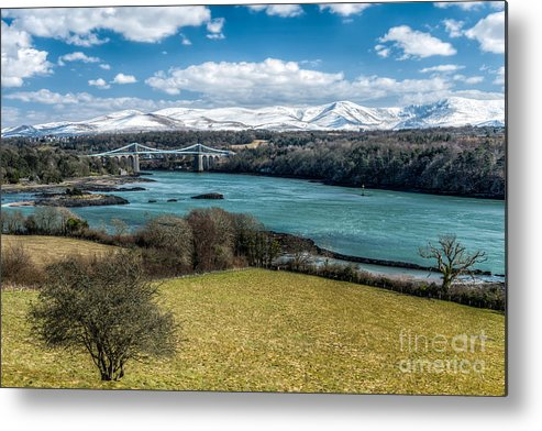 Menai Bridge Metal Print featuring the photograph Menai Bridge 1819 by Adrian Evans