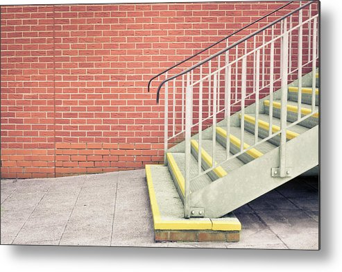 Achievement Metal Print featuring the photograph Metal Stairs by Tom Gowanlock