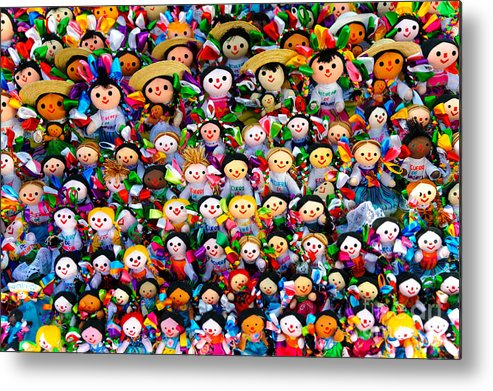 Travel Metal Print featuring the photograph Mexican Dolls by John Shaw