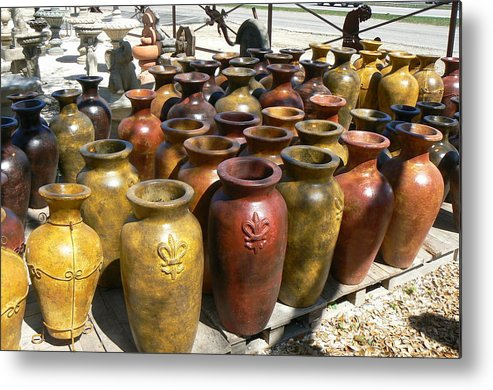 Pots Metal Print featuring the photograph Mexican Pots I by Scott Alcorn