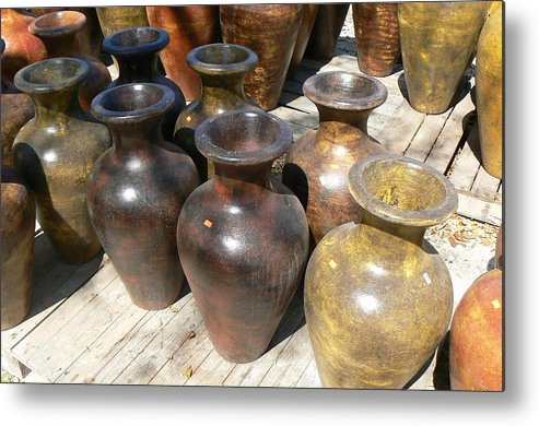 Pots Metal Print featuring the photograph Mexican Pots II by Scott Alcorn
