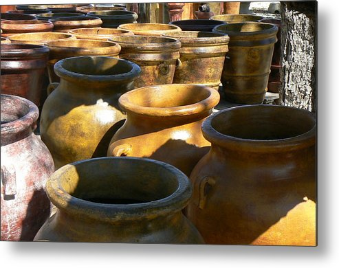 Pots Metal Print featuring the photograph Mexican Pots Iv by Scott Alcorn
