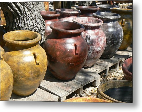 Pots Metal Print featuring the photograph Mexican Pots V by Scott Alcorn