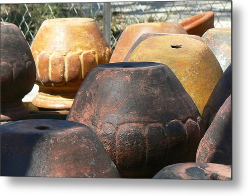 Pots Metal Print featuring the photograph Mexican Pots Vi by Scott Alcorn