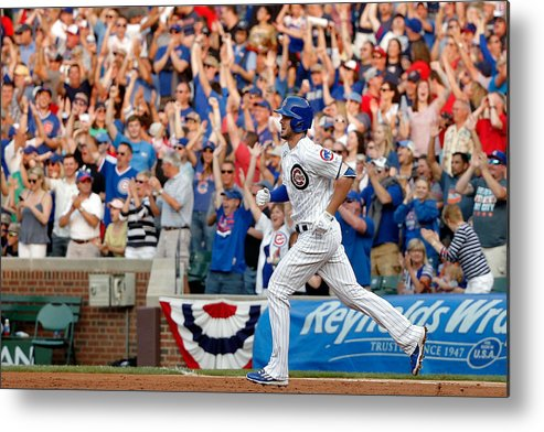 Second Inning Metal Print featuring the photograph Miami Marlins V Chicago Cubs by Jon Durr