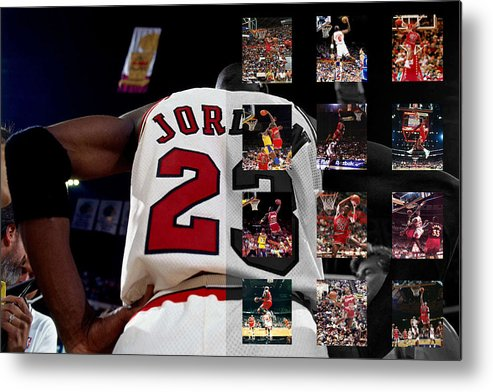 Michael Jordan Metal Print featuring the photograph Michael Jordan by Joe Hamilton
