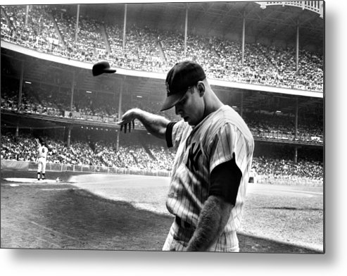 Mickey Metal Print featuring the photograph Mickey Mantle by Gianfranco Weiss