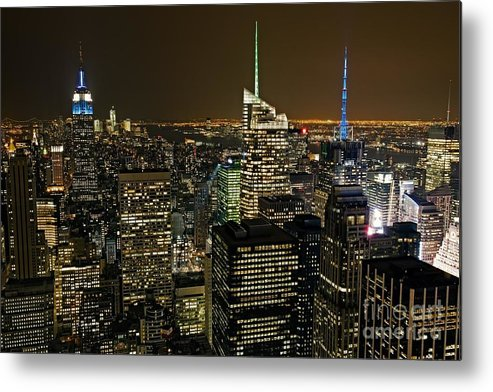 New York City Metal Print featuring the photograph Midtown Manhattan by Anthony Festa