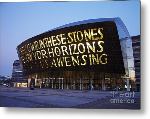 Millennium Metal Print featuring the photograph Millennium Centre by Premierlight Images