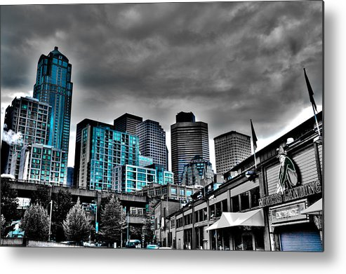 Miner's Landing Metal Print featuring the photograph Miner's Landing On Pier 57 - Seattle Washington by David Patterson