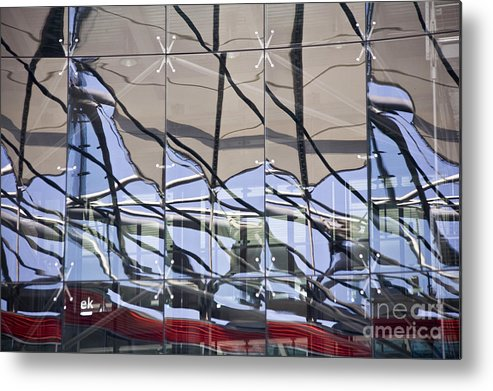 Heiko Metal Print featuring the photograph Mirroring On Vitreous Wall by Heiko Koehrer-Wagner