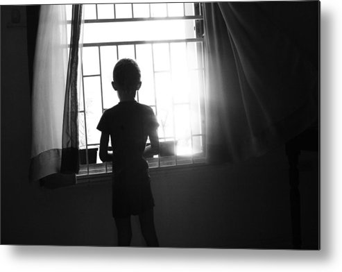 Child Metal Print featuring the photograph Missing Daddy by Dexter Browne