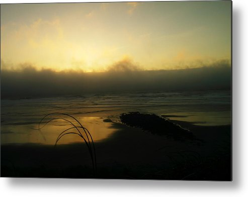 Ocean Metal Print featuring the photograph Misty Oregon Coast by Jeff Swan