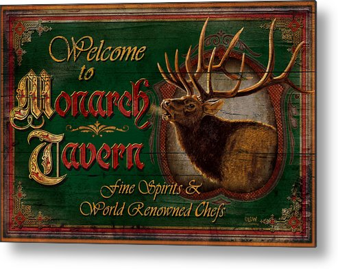 Joe Low Metal Print featuring the painting Monarch Tavern by JQ Licensing