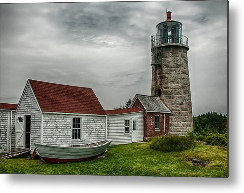 2013 Metal Print featuring the photograph Monhegan Island Light by Fred LeBlanc