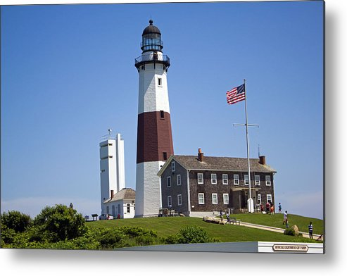 Montauk Lighthouse Metal Print featuring the photograph Montauk Lighthouse Long Island New York by Susan Jensen