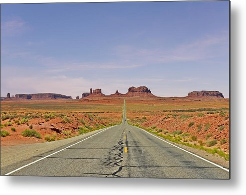 Monument Metal Print featuring the photograph Monument Valley - The Classic View by Christine Till