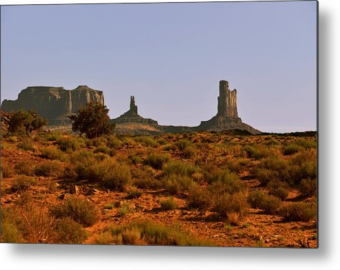Monument Valley Metal Print featuring the photograph Monument Valley - Unusual Landscape by Christine Till