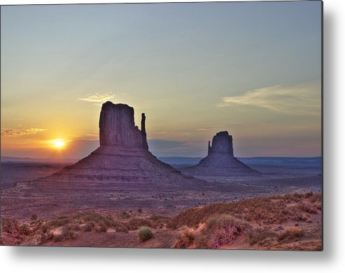 Sunrise Metal Print featuring the photograph Monumental Morning by Fred Hahn