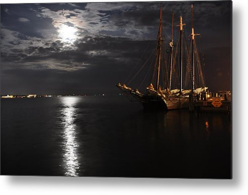 Tall Ship Metal Print featuring the photograph Moonbeam by Troy LeBoeuf