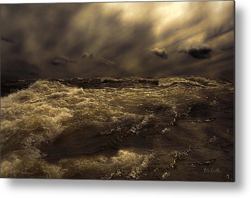 Seascape Metal Print featuring the photograph Moonlight On The Water by Bob Orsillo