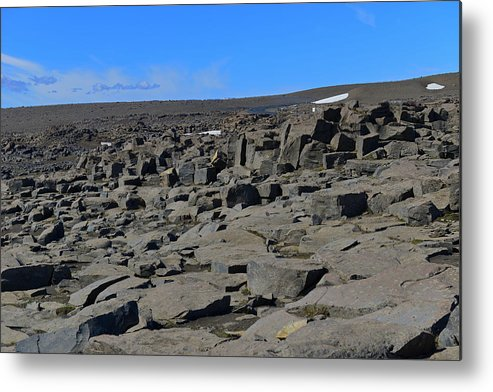 Rock Metal Print featuring the photograph More Rock And Lava At Dettifoss by Jeffrey Hamilton