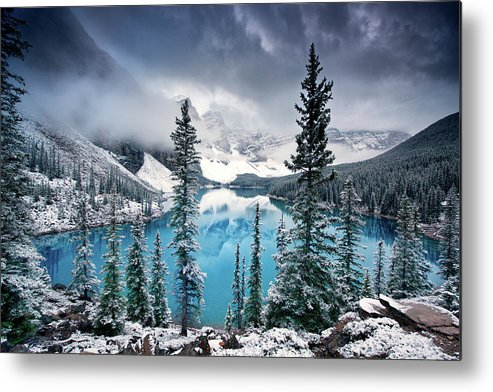 Moraine Metal Print featuring the photograph Morning Blues by Trevor Cole