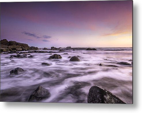 Morning. Seascape Metal Print featuring the photograph Morning Colors by Anthony Melendrez