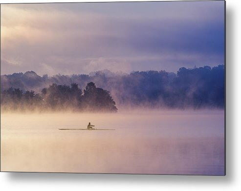 Mood Metal Print featuring the photograph Morning Exercise by ??? / Austin