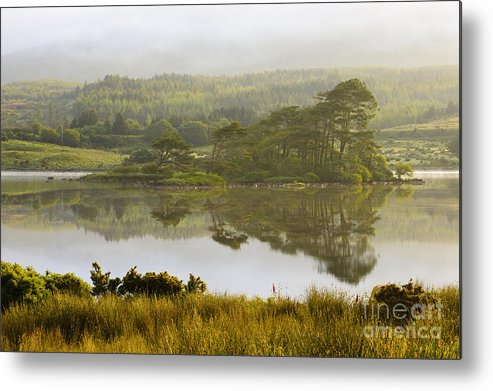 County Galway Metal Print featuring the photograph Morning Haze On Lough Bofin by John Shaw