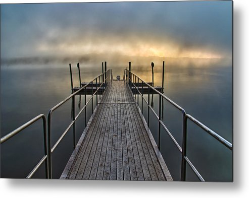 Lake Metal Print featuring the photograph Morning Mist by Brian Young