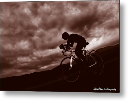 Morning Bike Ride Metal Print featuring the photograph Morning Ride by Laird Roberts