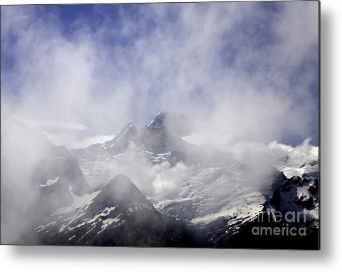 New Zealand Metal Print featuring the photograph Mt. Earnslaw - New Zealand by Carol Barrington