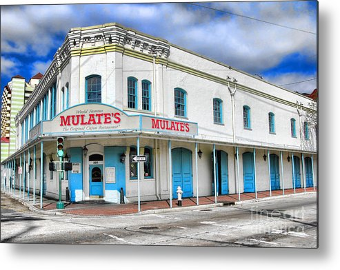 Mulates Metal Print featuring the photograph Mulates New Orleans by Olivier Le Queinec