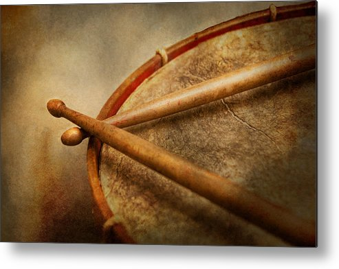 Hdr Metal Print featuring the photograph Music - Drum - Cadence by Mike Savad