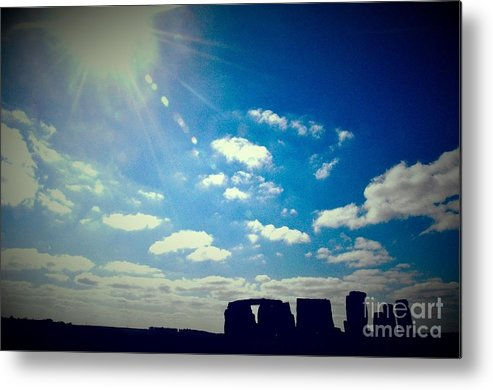 Stonehenge England Metal Print featuring the photograph Mystery Henge by Heather Watson