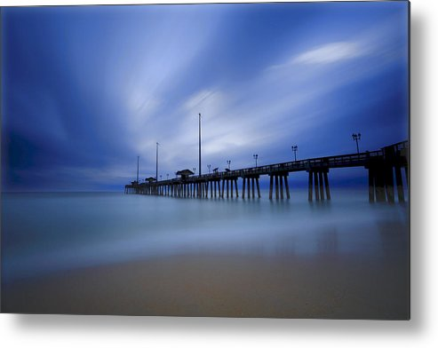 Nags Head Metal Print featuring the photograph Nags Head Nc Pier Sunrise by Jerry Patterson