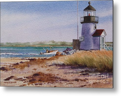Lighthouse Metal Print featuring the painting Nantucket Winter Light by Karol Wyckoff