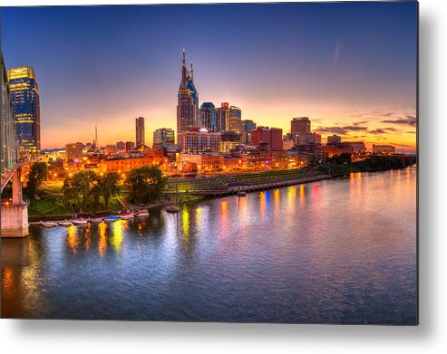 City Metal Print featuring the photograph Nashville Skyline by Brett Engle