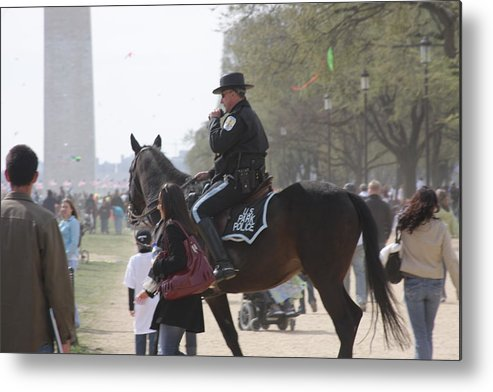 Washington Metal Print featuring the photograph National Mall - Washington Dc - 01136 by DC Photographer