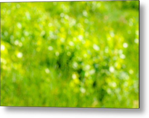Abstract Metal Print featuring the photograph Natural Bokeh by Alain De Maximy