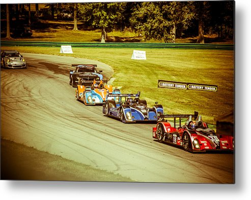 Race Cars Metal Print featuring the photograph Need For Speed by Diane Travis