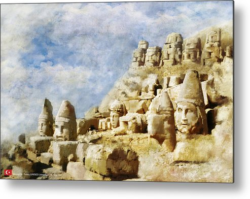 Metal Print featuring the painting Nemrut Dag by Catf