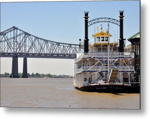 New Orleans Metal Print featuring the photograph New Orleans River Boat by Diane Lent
