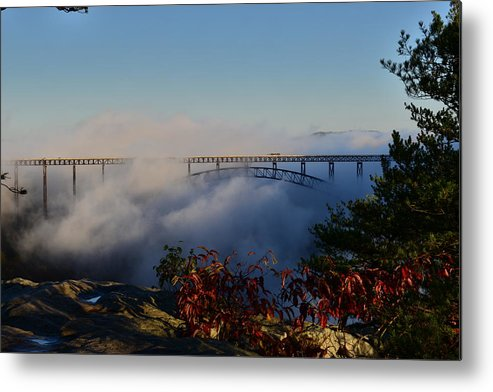 New River Metal Print featuring the photograph New River Gorge Bridge by Thurston Connard