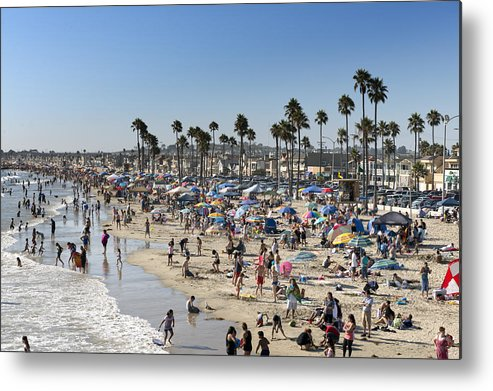 Newport Metal Print featuring the photograph Newport Beach by Carol M Highsmith