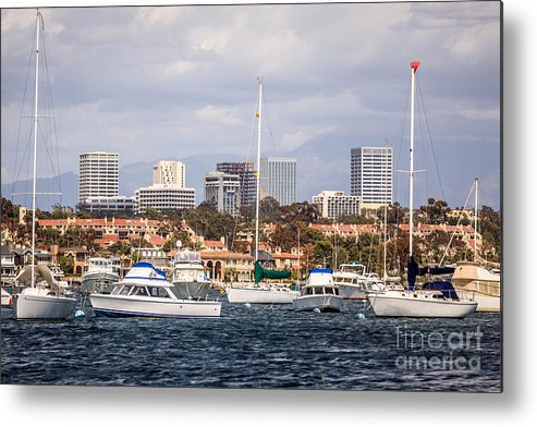 America Metal Print featuring the photograph Newport Beach Skyline by Paul Velgos
