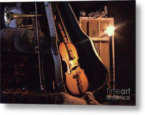 Musical Instrument Still Life Metal Print featuring the photograph Nocturne by Joe Jake Pratt